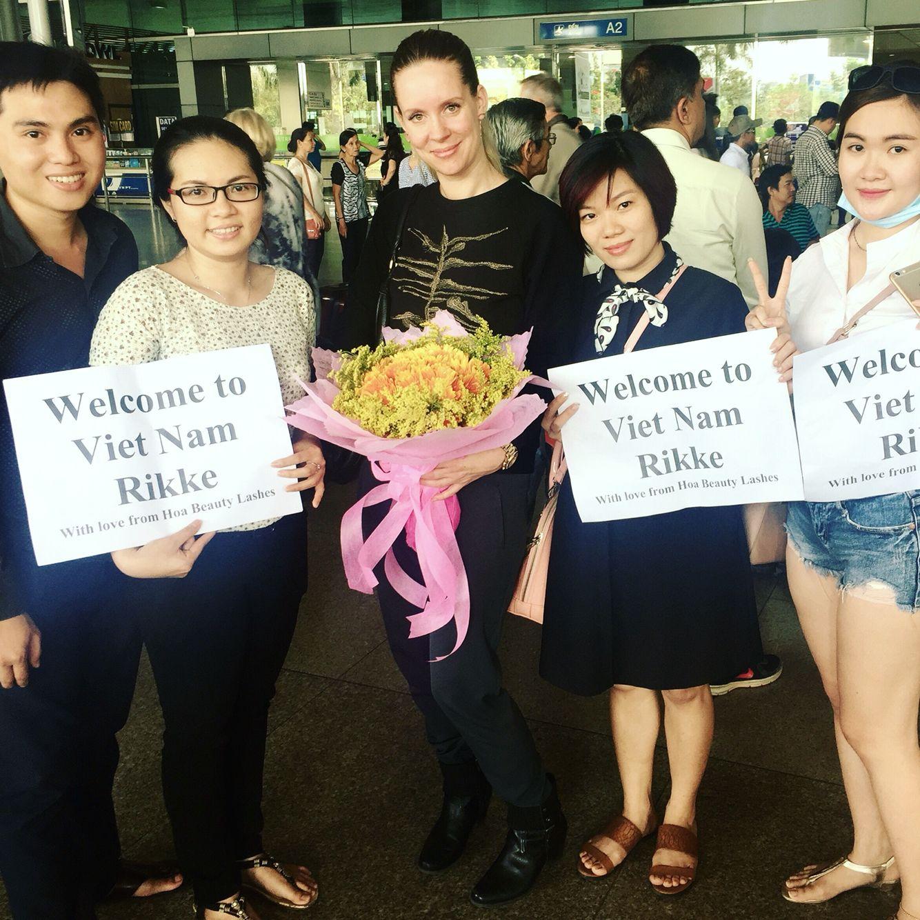 at Ho Chi Minh airport, Vietnam