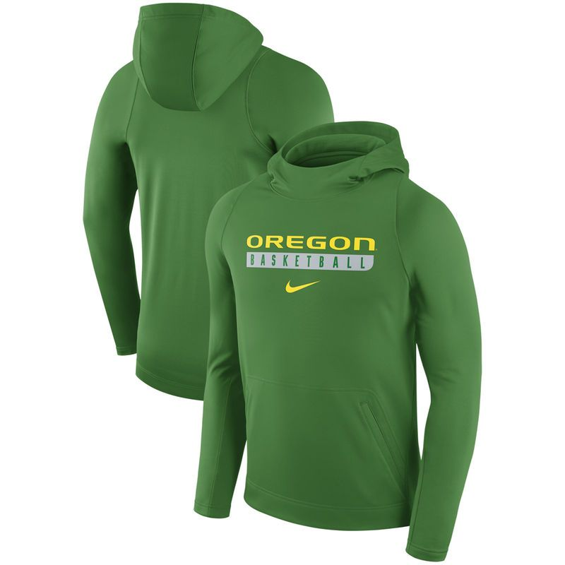 Oregon Ducks Nike Basketball Performance Fleece Pullover Hoodie - Apple  Green