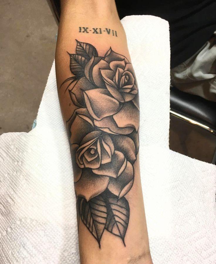 Unterarm rosen tattoo Rosen Tattoo