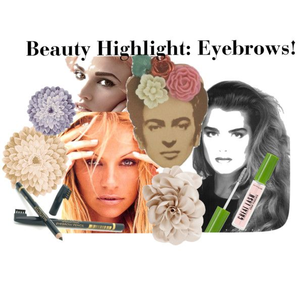 beauty highlight: eyebrows!, created by gerasilly on Polyvore