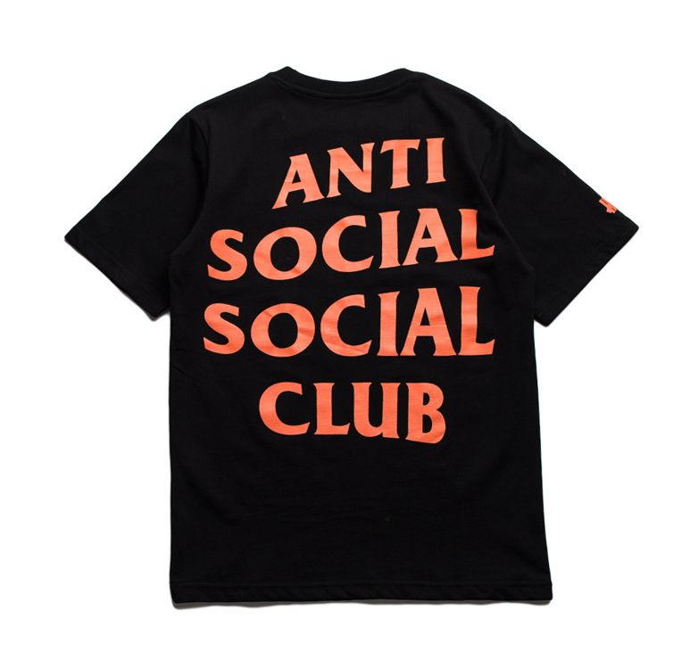 Undftd X Antisocial Social Club Paranoid Tshirt Everyone Knows It When They See Black And Orange Undefeated Undftd Antisocialsocialclub Assc Paranoid Ts