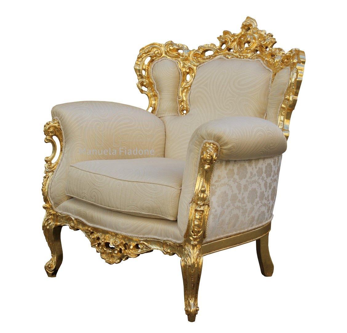 poltrona chippendale in foglia oro gold leaf seat. Black Bedroom Furniture Sets. Home Design Ideas