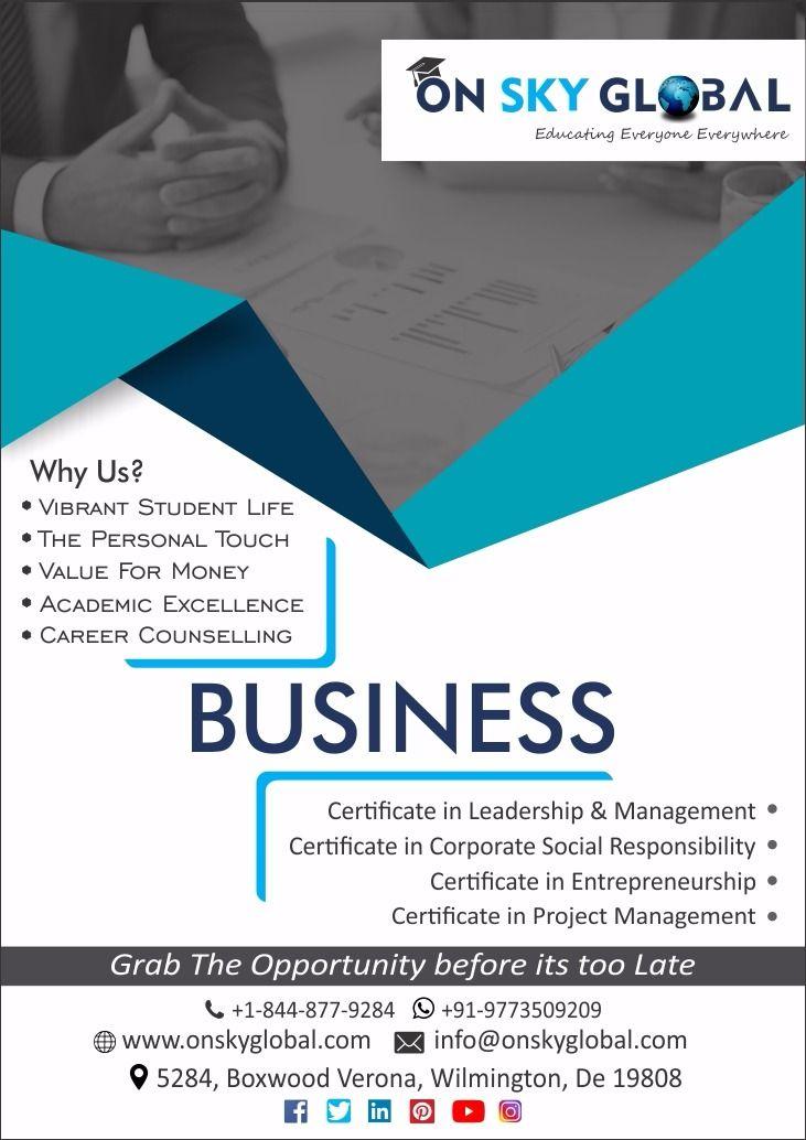 global sky certificate programs professional inc training education study america management