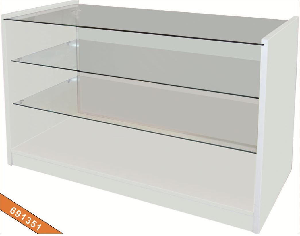 Mostradores y vitrinas 691351 mostrador de madera blanco - Vitrinas de madera y vidrio ...