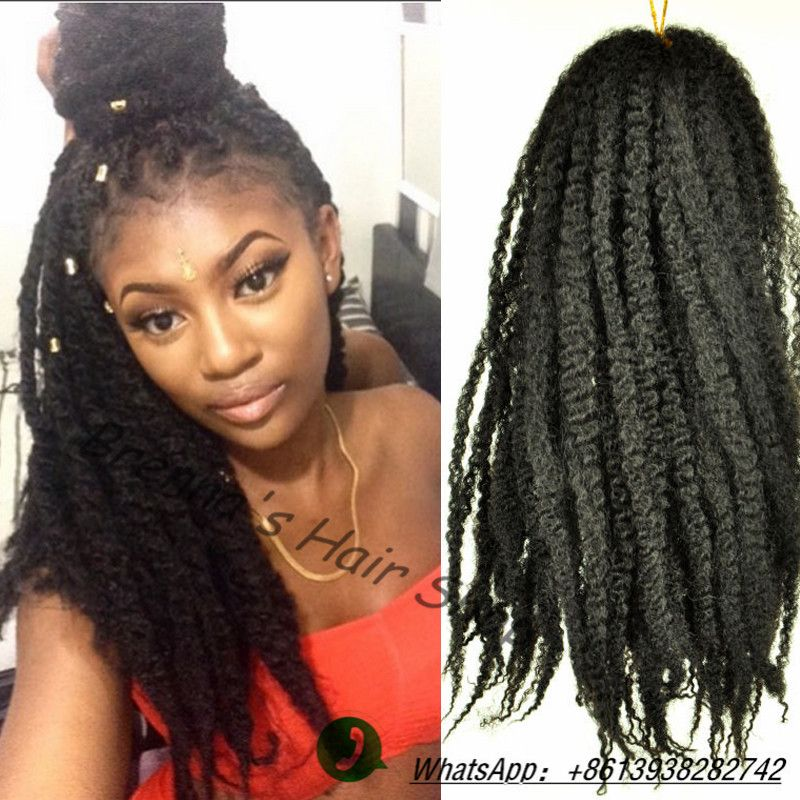 Find More Bulk Hair Information About Afro Curly Synthetic Extension Beauty Marley Braidsmarley