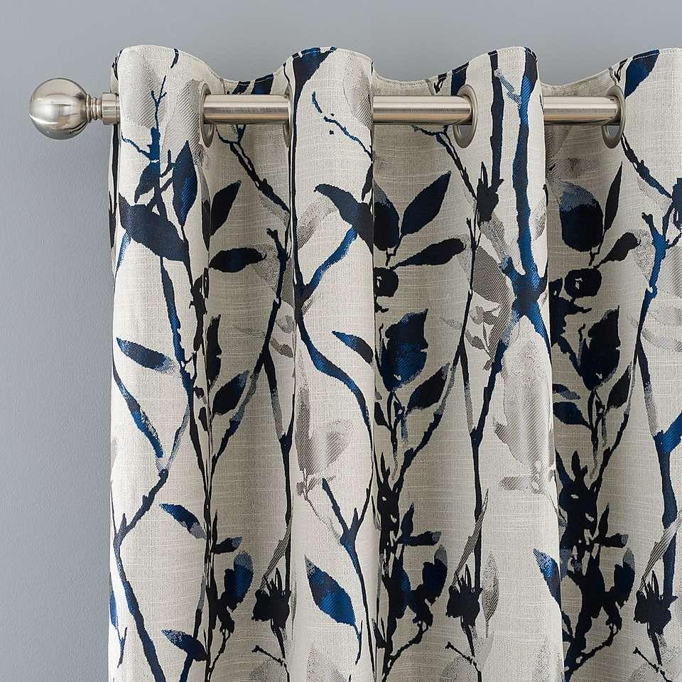 Zen Blue Eyelet Curtains In 2019