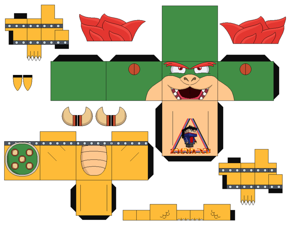 Bowser Mario Bros 2 - cubeecraft / papercraft by ...