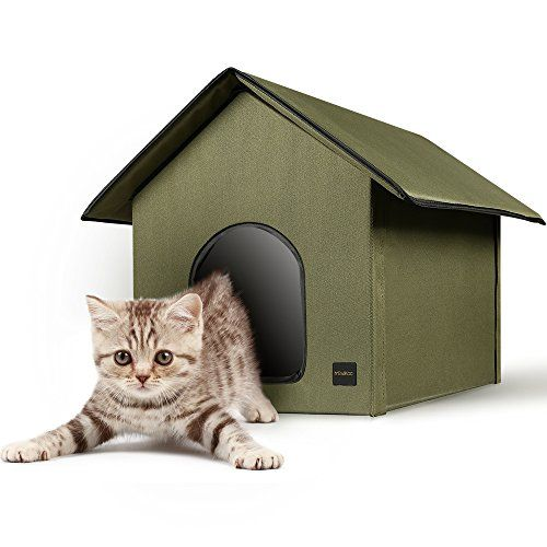 Mindkoo Pet House Kennel Hut Cat Dog Condo Tent with Cozy Blanket Bed Army Green *  sc 1 st  Pinterest & Mindkoo Pet House Kennel Hut Cat Dog Condo Tent with Cozy Blanket ...