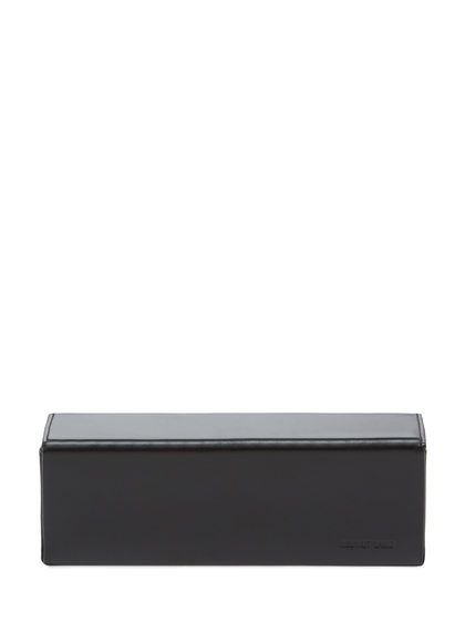 Leather Box Clutch by Helmut Lang at Gilt