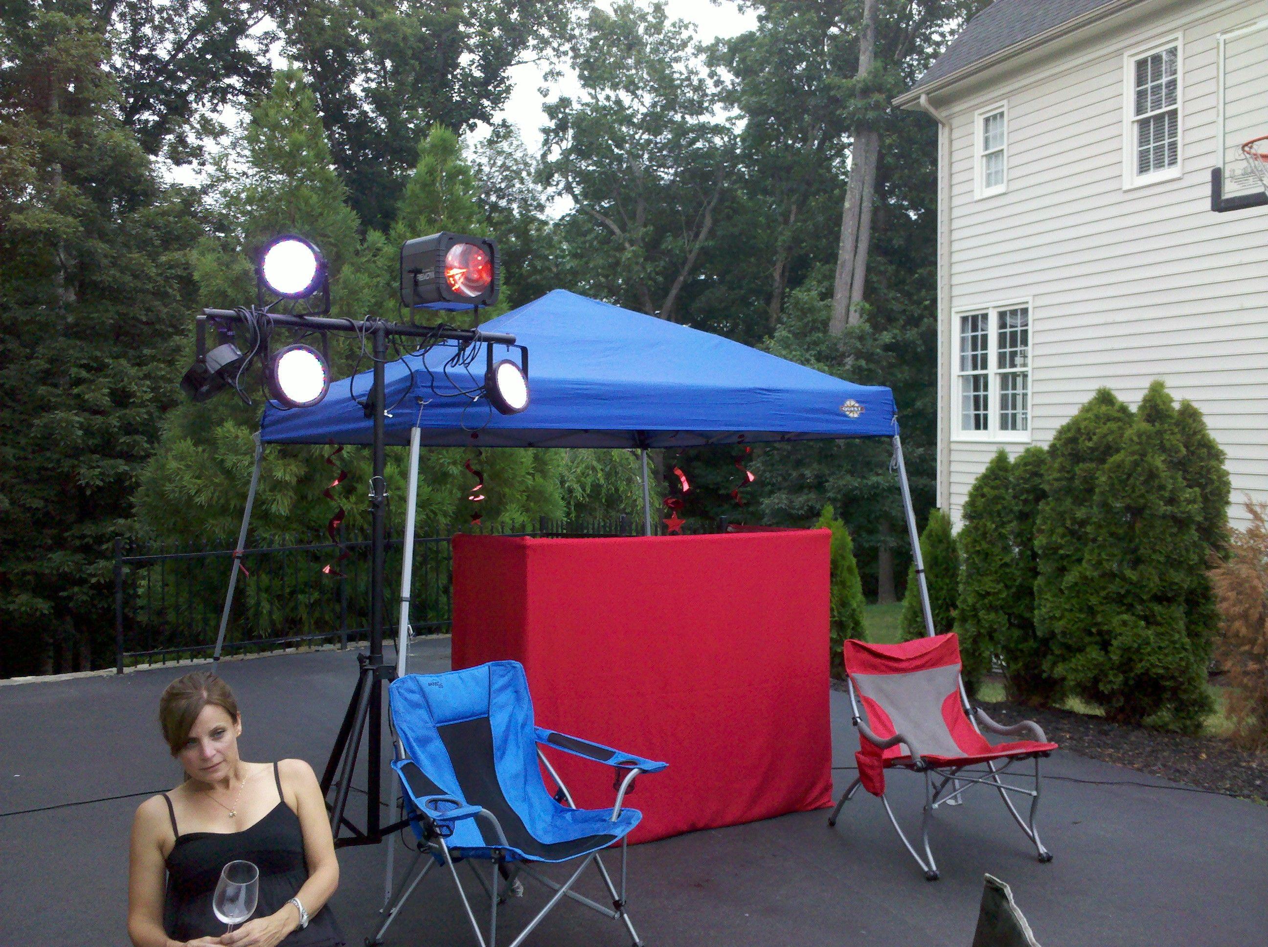 A neighborhood block party set-up in Leesburg, Virginia. That ...