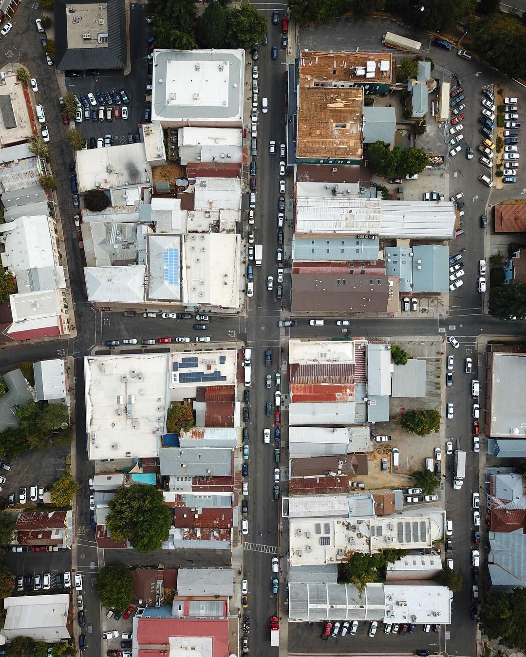 Small Town Charm Drone Photo Of Downtown Nevada City By Gold Grass Goods Nevadacity With Images Nevada City Visit Nevada Downtown