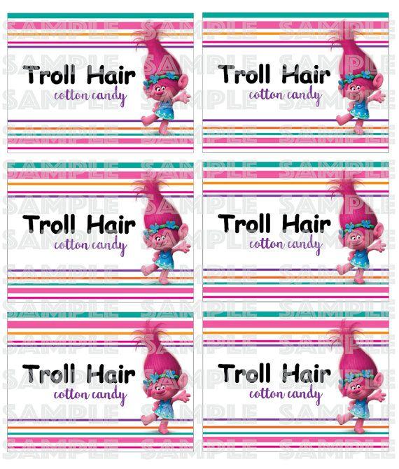 TROLLS COTTON CANDY Label Trolls