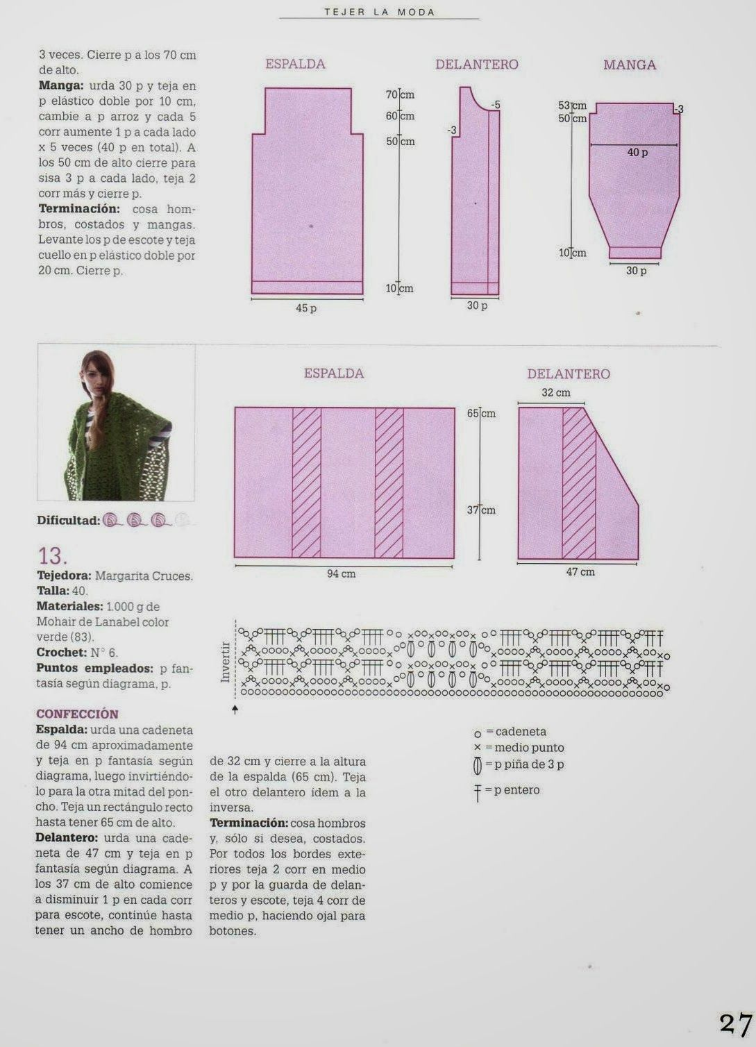 chaqueta+capa+de+crochet+patron2.jpg (1089×1508) | raque | Pinterest ...
