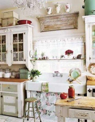 15 Encantadoras Cocinas Shabby Chic For The Home Pinterest