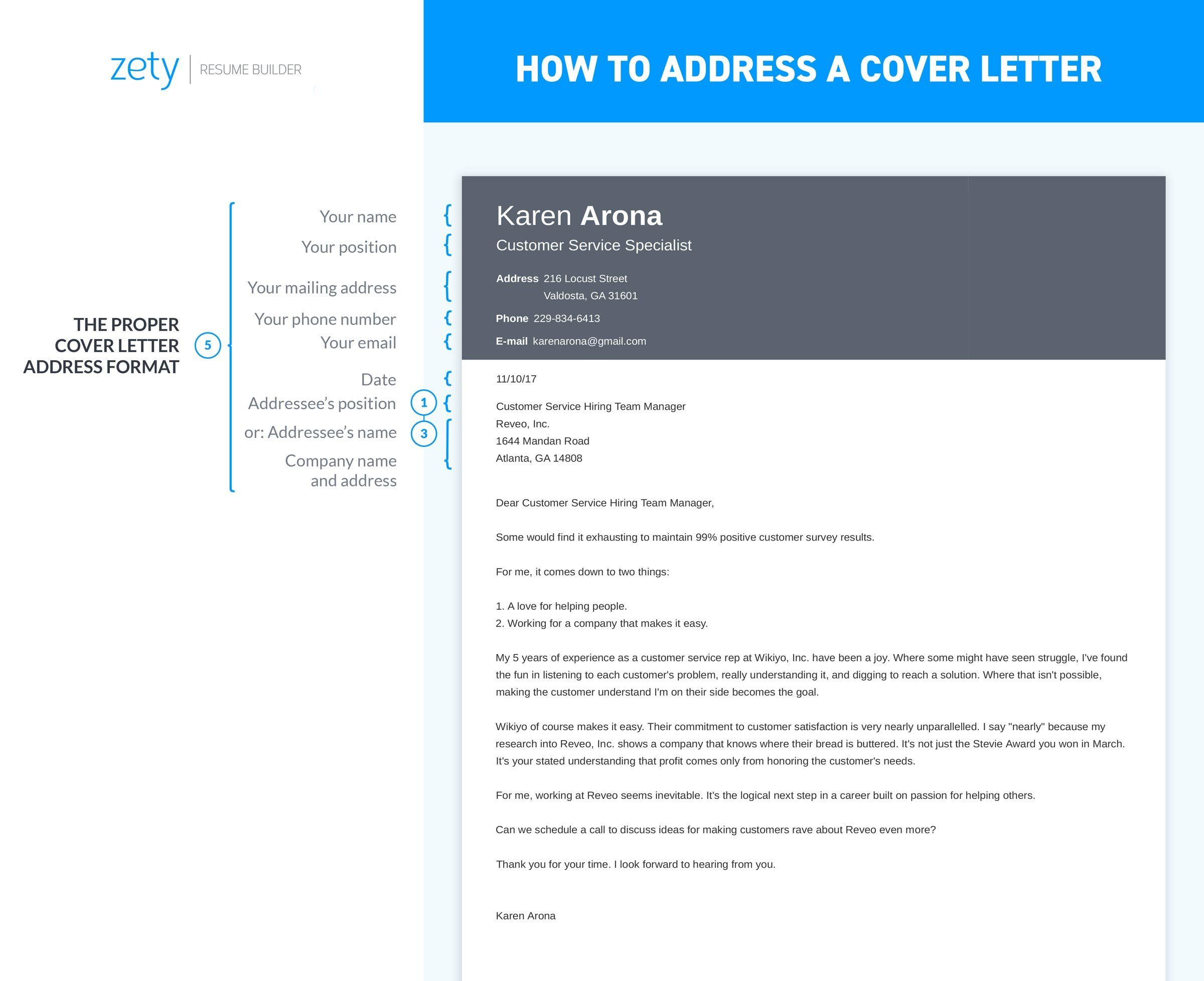 infographic about how to address a cover letter Resume