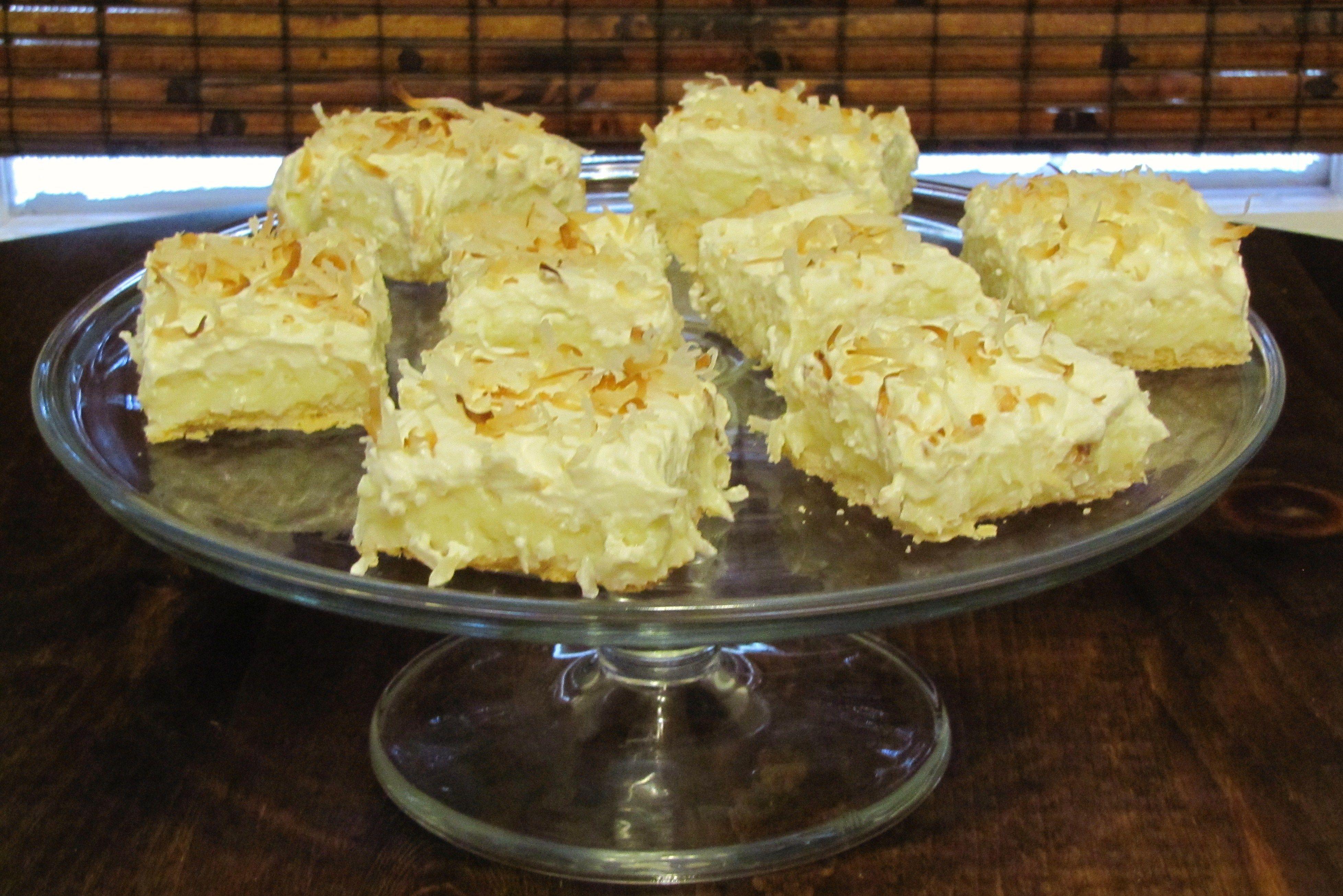 Coconut Cream Bars | Baking | Pinterest