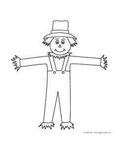 Autumn Fall Coloring Page With A Scarecrow To Color Fall Classroom Ideas Fall Coloring Pages Business For Kids
