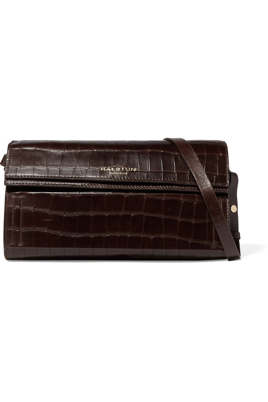 1366f62775e HALSTON HERITAGE Croc-Effect Leather Shoulder Bag.  halstonheritage  bags  shoulder  bags  leather