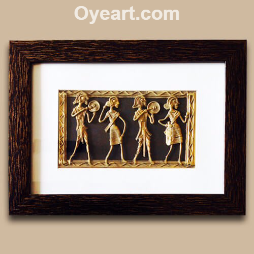 Dhokra Jaali Framed Paintings Painting Frames Frame Painting