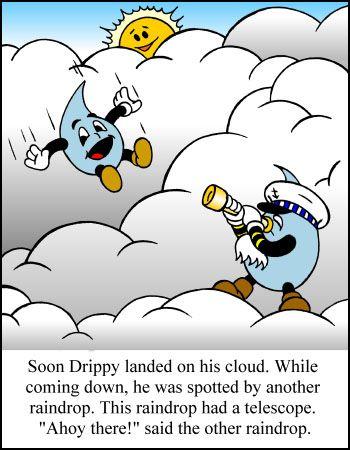 Drippy, the, Raindrops, raining, drops, waters, cycles ...