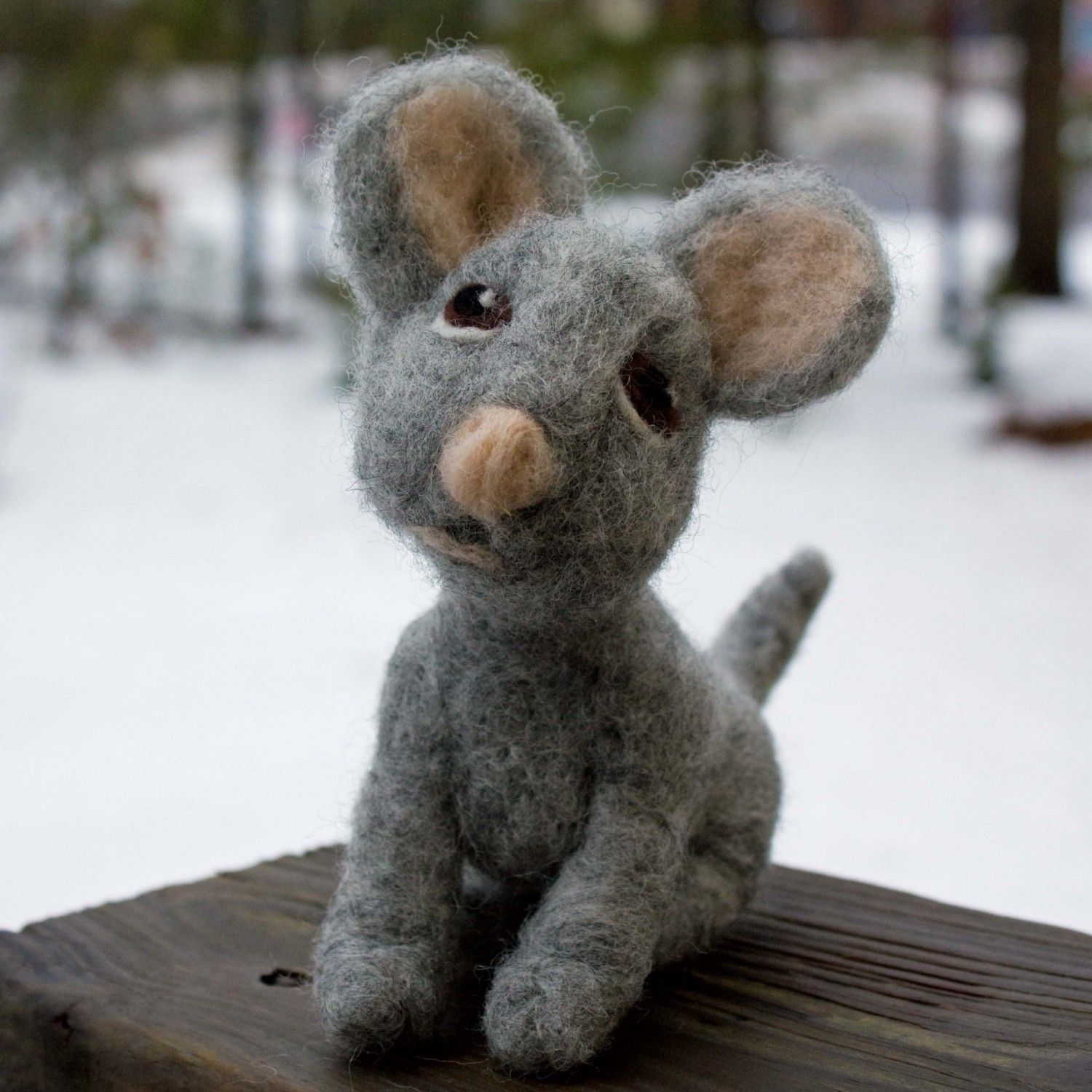 Miniature Bespoke Needle Felted Mouse Wool Sculpture by WoolSculptures on Etsy