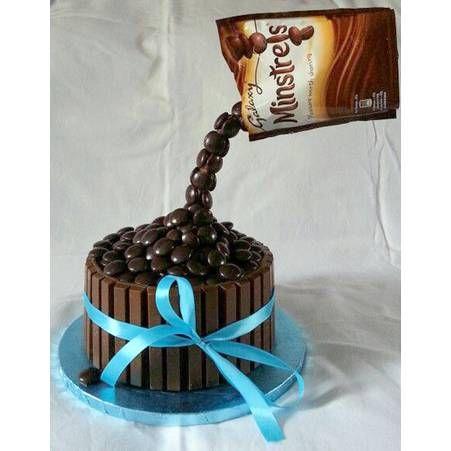 Gravity cakes aux bonbons au chocolat #gravitycake