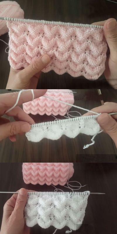 Modèle de gilet en tricot Sea Waves que tout le monde peut faire – Tricot expressif …   – Galeri