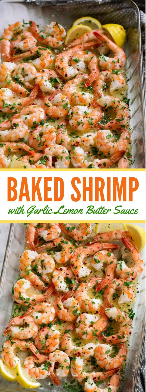 Baked Shrimp (with Garlic Lemon Butter Sauce) #dinner #lunch #sauce #meals #foodrecipe