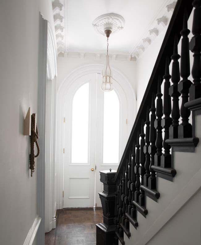 Painted Stairs, Black Painted Stairs, Black