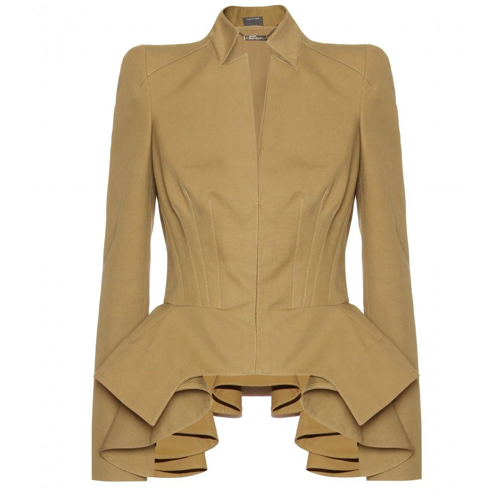 Alexander McQueen Peplum Detailed Jacket