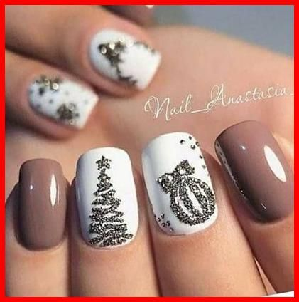 Holiday Acrylic Nails: Inspiration To Style Your Nails This Christmas  48+ December Nails Acryl