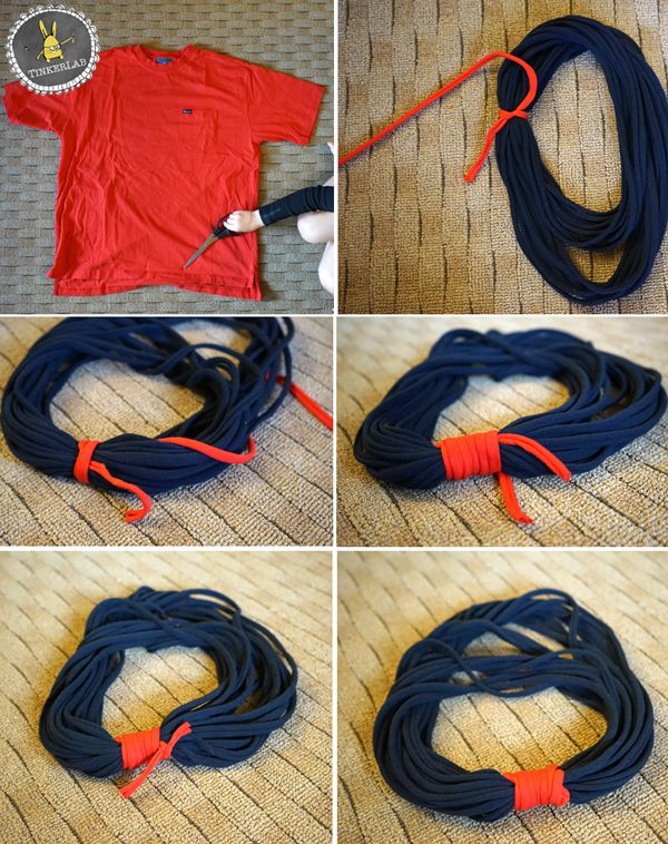 The No-Sew T-Shirt Scarf | TinkerLab