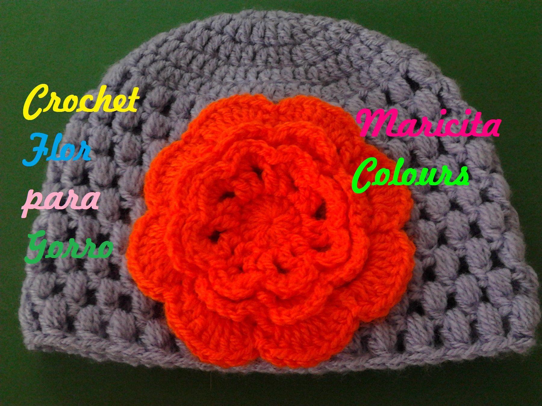 Crochet maricita colours flores gorros y aplicaciones - Aplicaciones en crochet ...