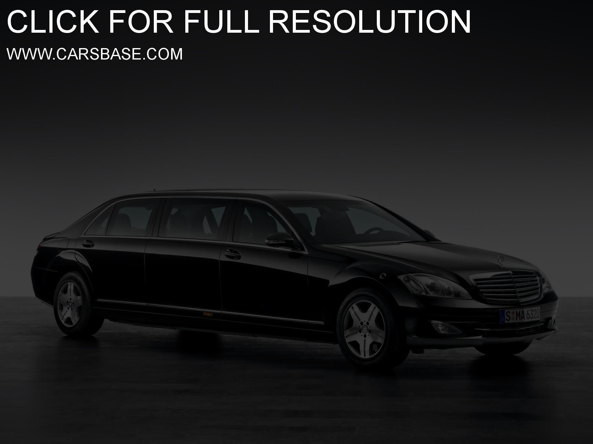 Mercedes Benz S 600 Pullman Guard Limousine photos Gallery