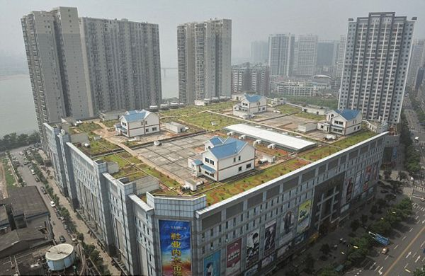 Chinese Home Builders Find Great Location: On Top Of A Shopping Mall