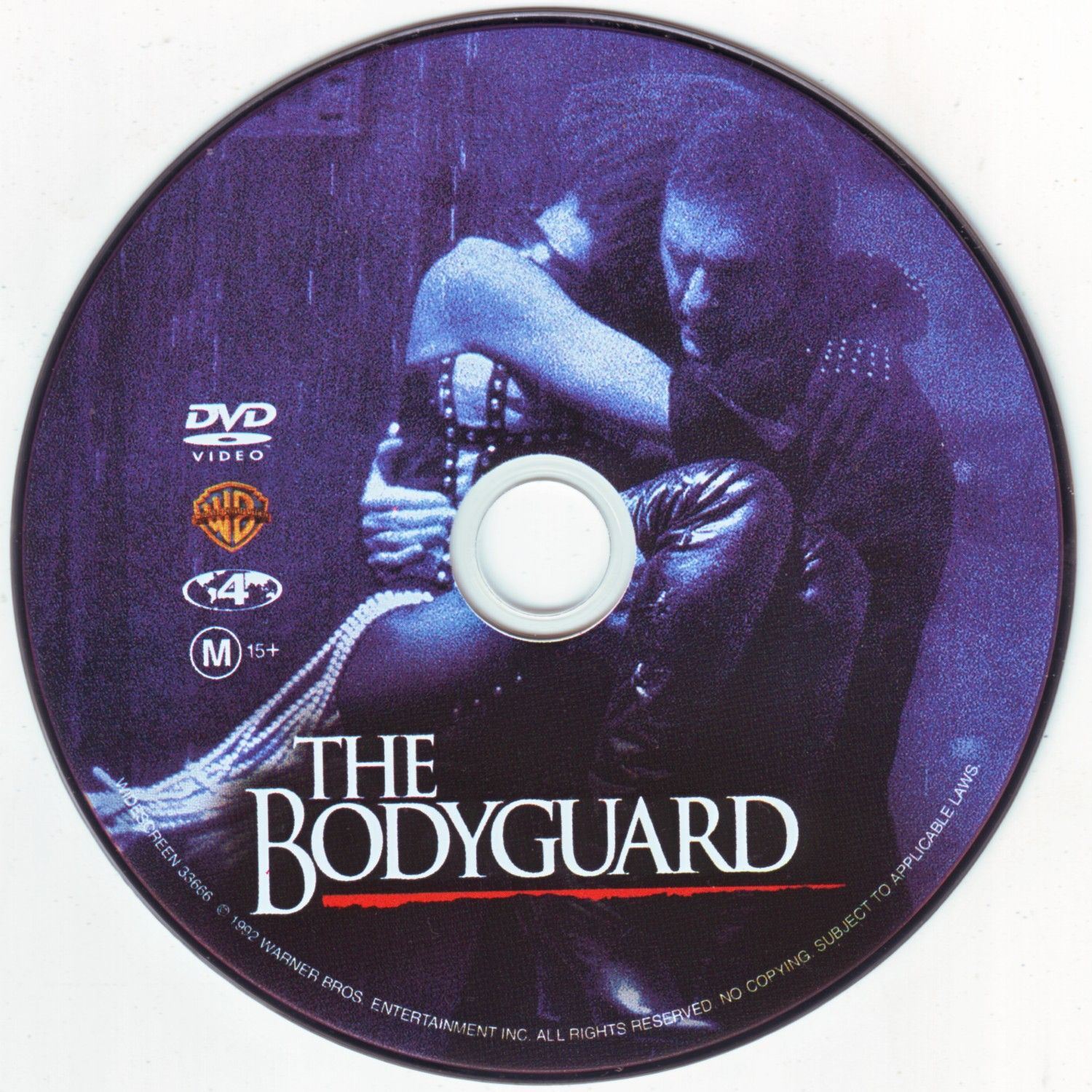 Cd Movies  The Bodyguard  R  Movie Dvd  Cd Cover Dvd