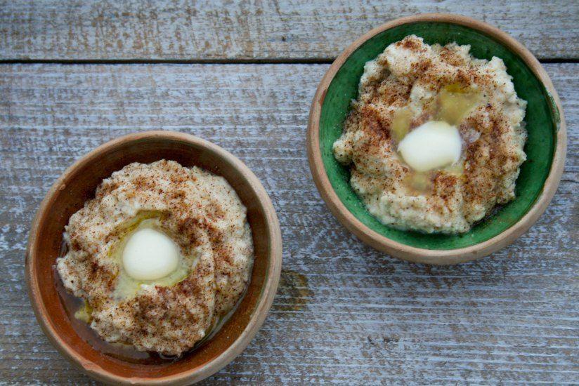 Risengrød uden ris med æg og mandler