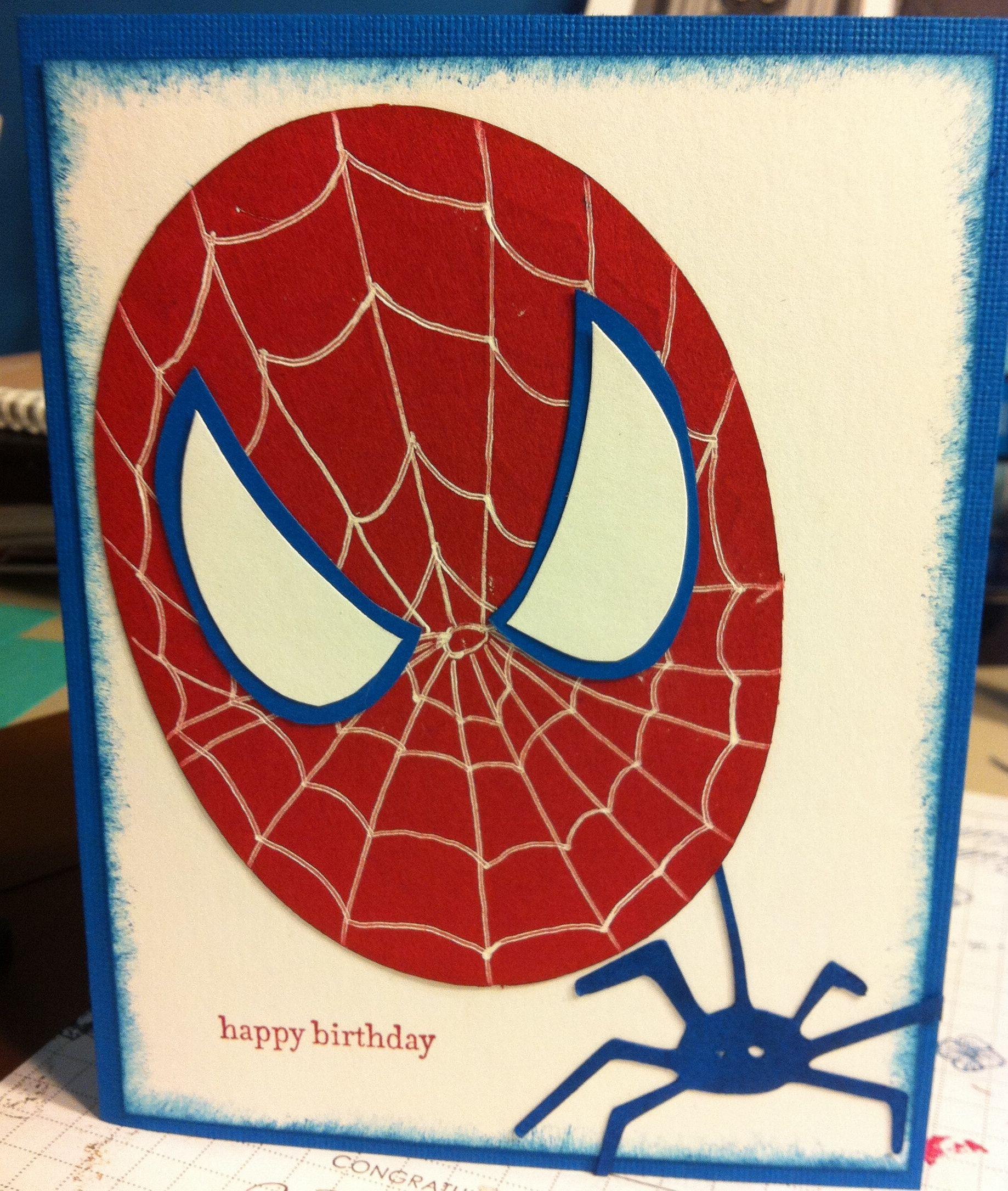 Spiderman birthday card | Cards - Baby/Kids | Pinterest | Best ...