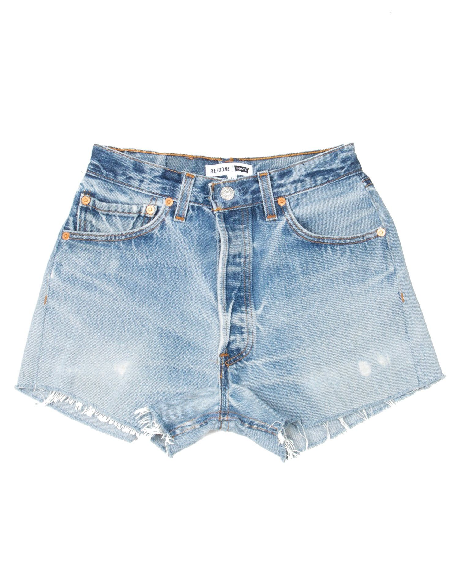 Re Done No 23hds1150658 Medium Blue 23 Vintage Denim Shorts Denim Shorts Women Denim Shorts Style
