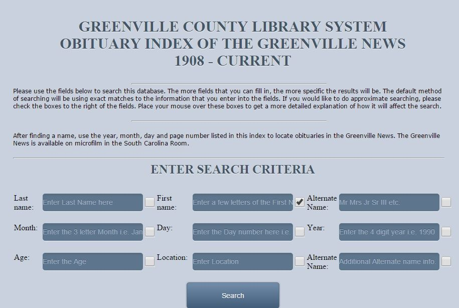Obituary Index Obituaries County Library Index
