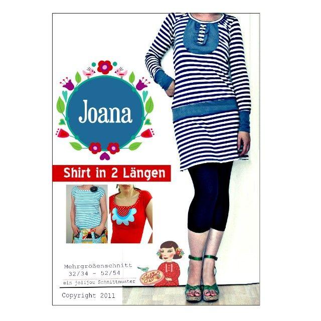 Joana, Damenshirt und Kleid, Kreativ-Ebook | Shirt schnittmuster ...