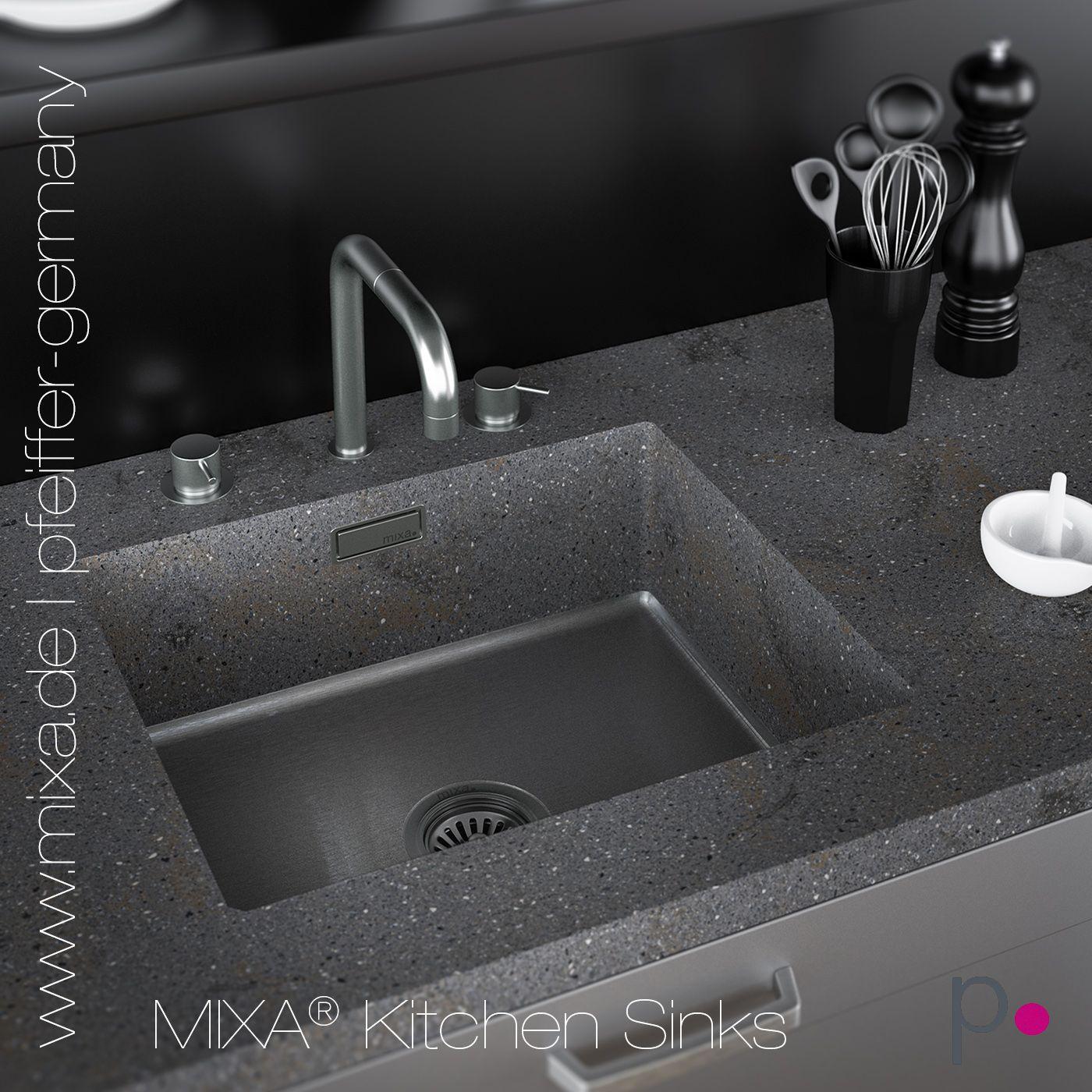 Mixa Mineralwerkstoff Spule R10 Waschbecken Badezimmer Waschbecken Lava