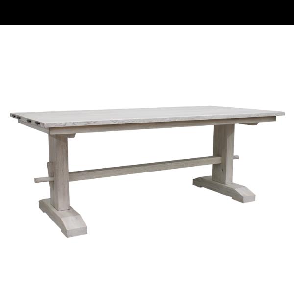 Esszimmertisch Casma Ii Wildeiche Massiv Weiss 180 X 90 Cm Esszimmertisch Tisch Eiche
