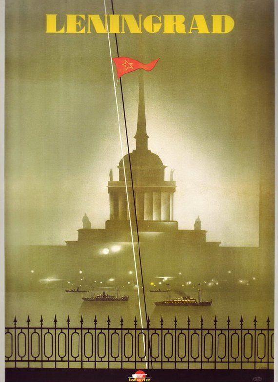 Vintage Soviet Union Leningrad Tourism Poster  A3 Print Kunst Antiquitäten & Kunst
