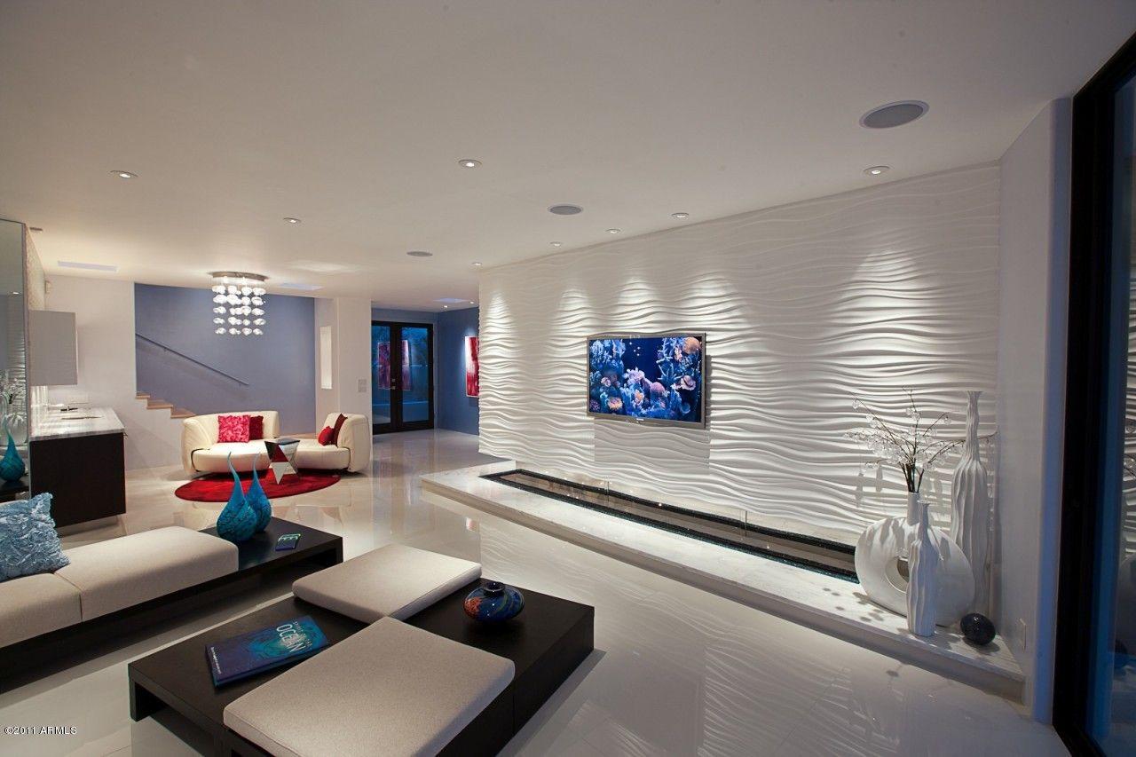 Wohnzimmer des modernen interieurs des hauses für menschen die am rande des schreibens das moderne interieur