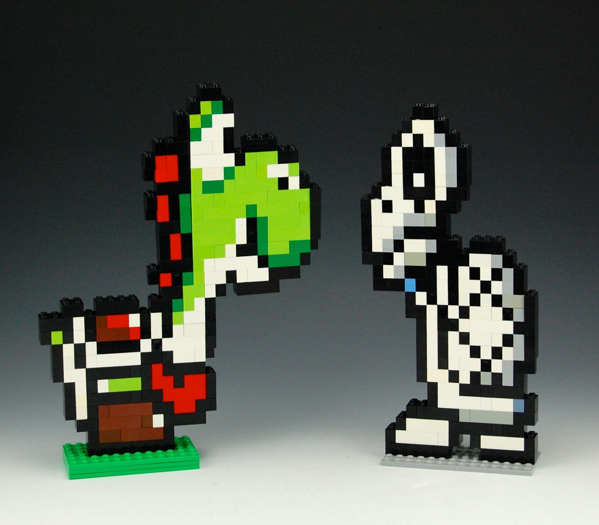 Lego Yoshi And Dry Bones By Brickbum Nintendo And Cartoon