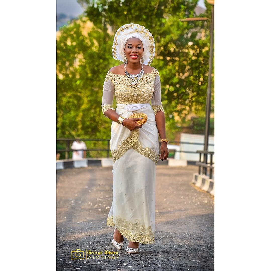 Igbo amaka bride agozieiyizoba in her second outfit for her