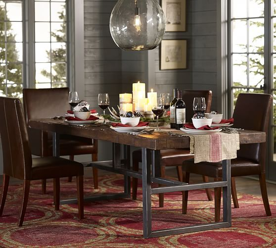 Griffin Reclaimed Wood Dining Table Home Pottery Barn