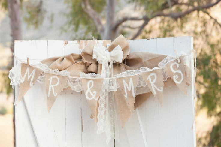 Rustic Wedding Ideas Using Burlap Burlap bunting Wedding