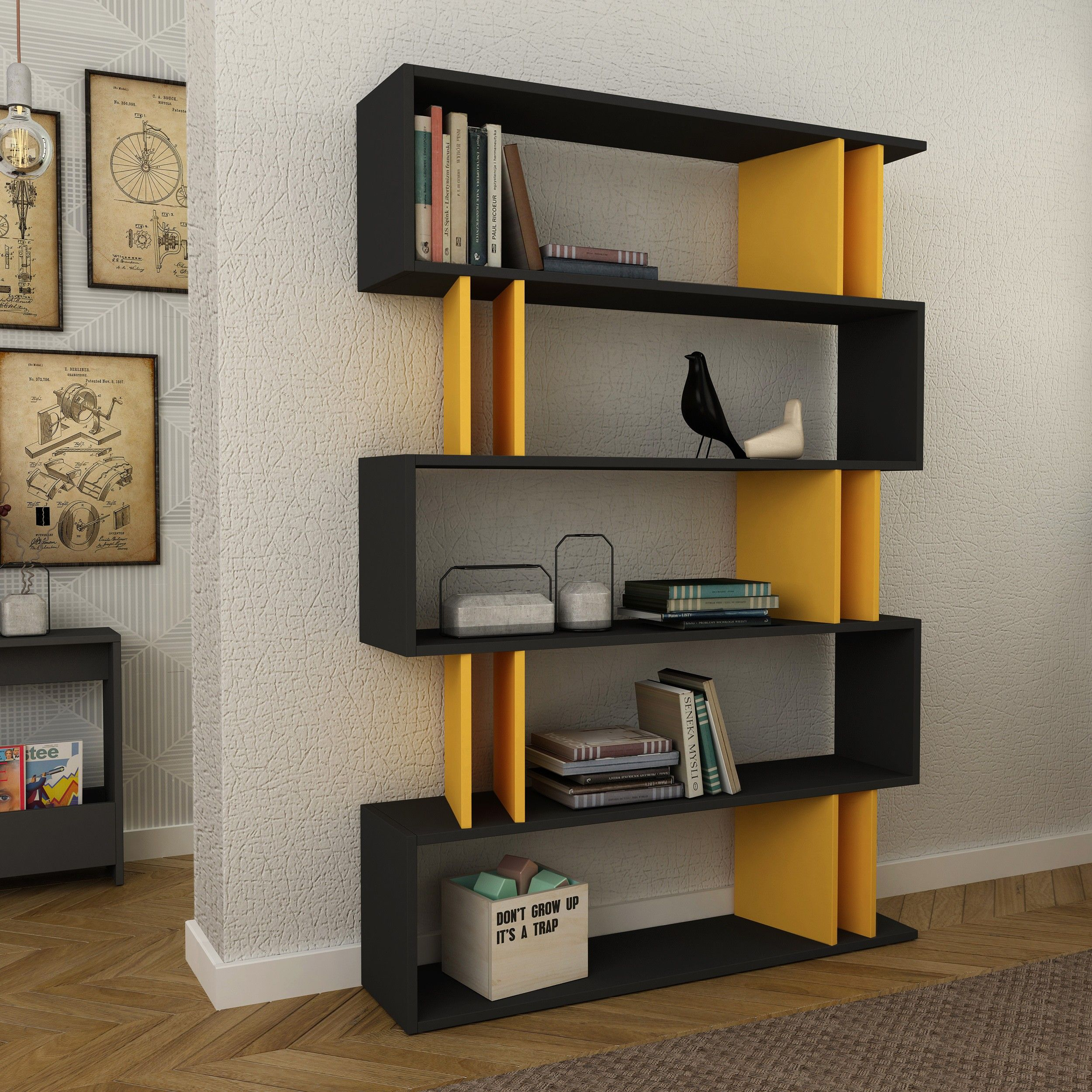 Enliven A Dull Space By Partiro Bookshelf If Simplicity Is What You Appreciate Then This Bookcse Is Surely Going To Modern Bookcase Bookcase Wooden Bookcase